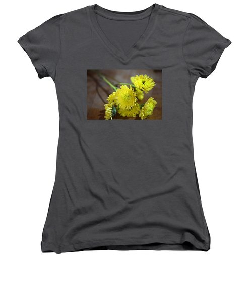 Women's V-Neck T-Shirt (Junior Cut) featuring the photograph Handful For You by Deborah  Crew-Johnson