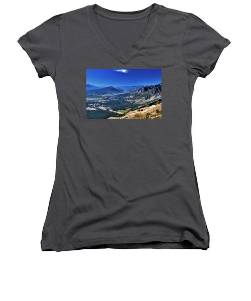 Hang Gliders Point Of View Women's V-Neck (Athletic Fit)