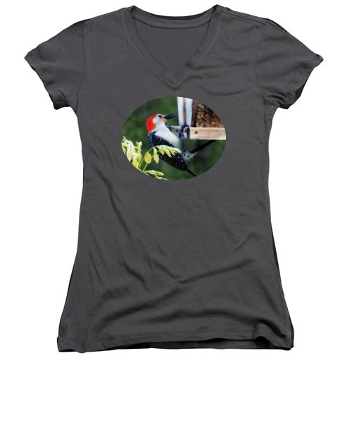 Hang In There Women's V-Neck T-Shirt (Junior Cut)