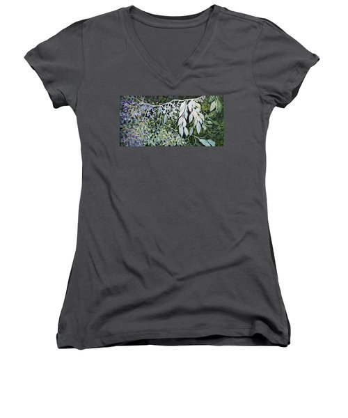 Silver Spendor Women's V-Neck T-Shirt (Junior Cut) by Joanne Smoley