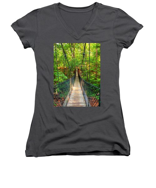 Hanging Bridge Women's V-Neck T-Shirt