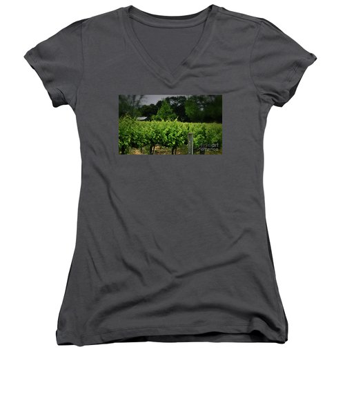 Hanging Out In The Vineyards Women's V-Neck T-Shirt
