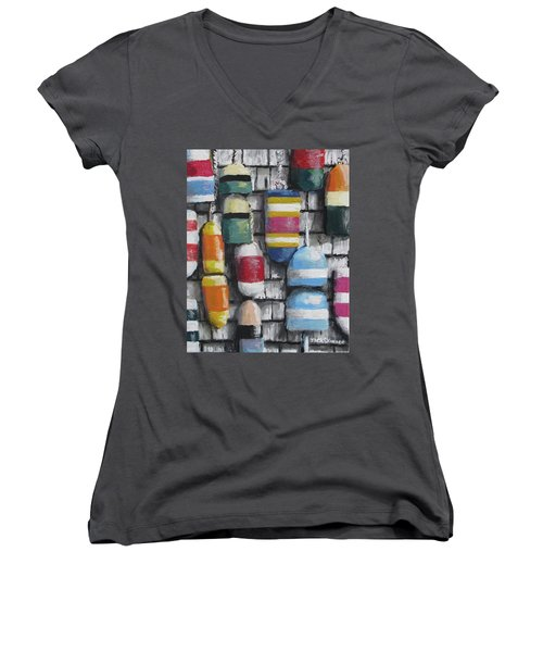 Hanging With The Buoys Women's V-Neck (Athletic Fit)