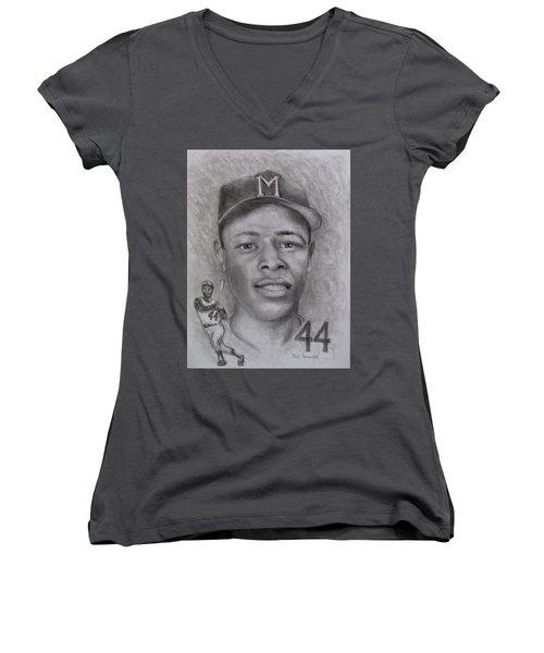 Hank Women's V-Neck T-Shirt (Junior Cut) by Jack Skinner