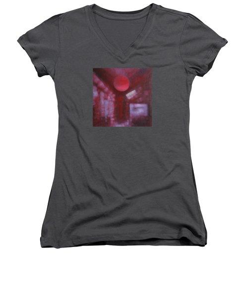 Happiness Is Love... Women's V-Neck T-Shirt (Junior Cut) by Min Zou