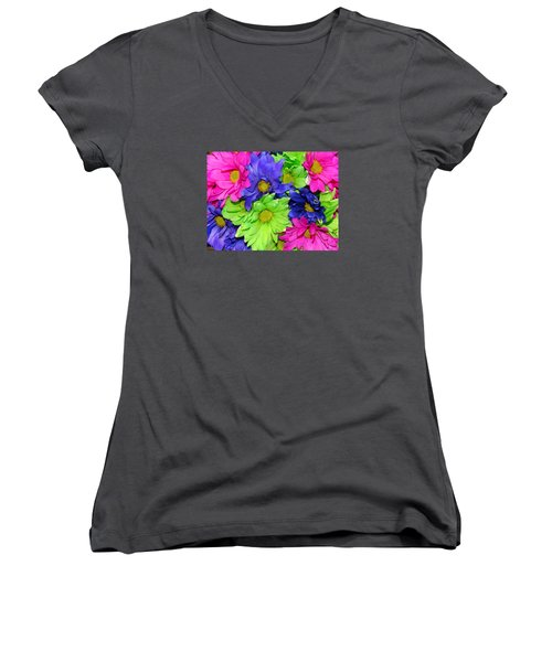 Happiness Women's V-Neck T-Shirt (Junior Cut) by J R   Seymour