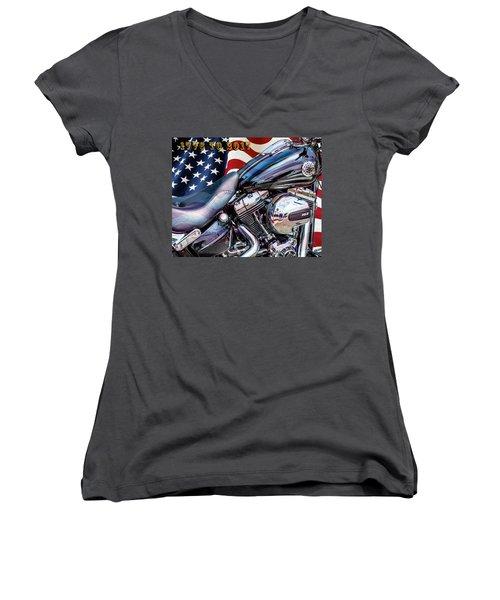 Happy Birthday America Women's V-Neck (Athletic Fit)