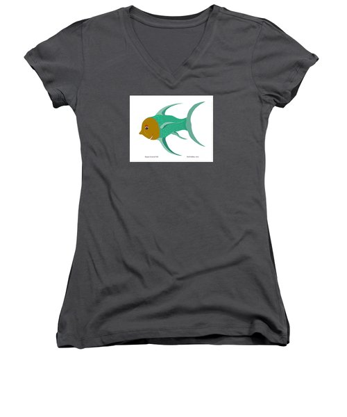 Happy Carnival Fish Women's V-Neck (Athletic Fit)