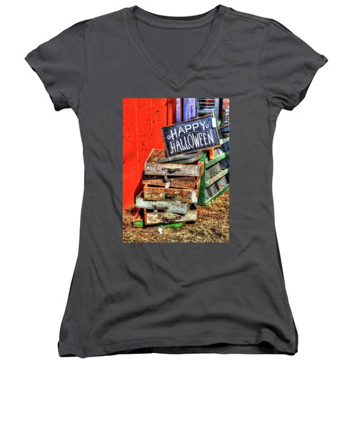 Happy Halloween Women's V-Neck T-Shirt