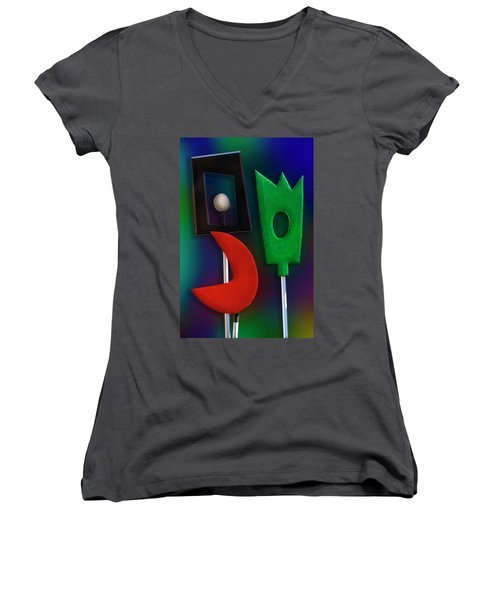Women's V-Neck T-Shirt (Junior Cut) featuring the photograph Happy Together  by Paul Wear
