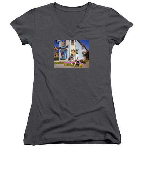 Happy Woman Women's V-Neck (Athletic Fit)