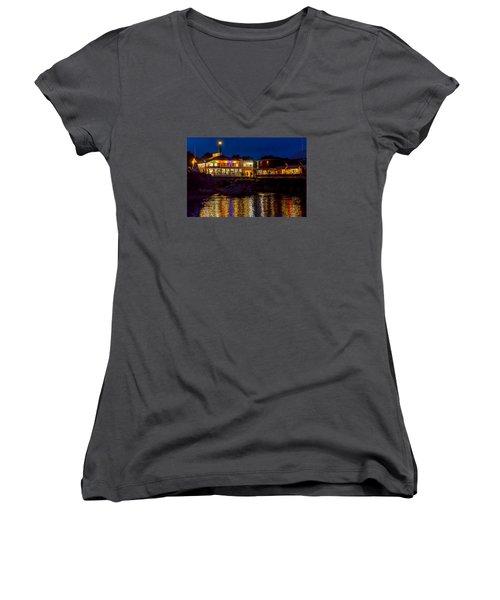 Harbor House Women's V-Neck T-Shirt (Junior Cut) by Derek Dean