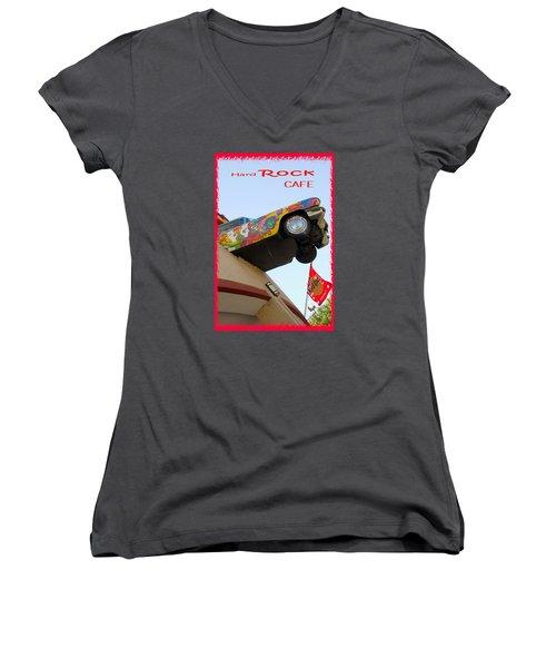 Hard Rock Cafe N Y Women's V-Neck T-Shirt