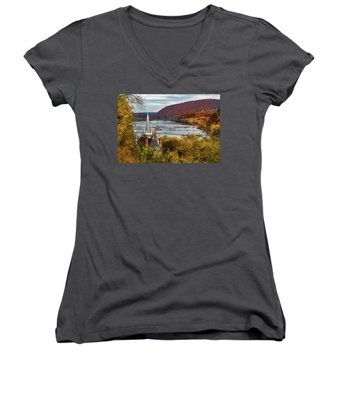 Harpers Ferry, West Virginia Women's V-Neck (Athletic Fit)