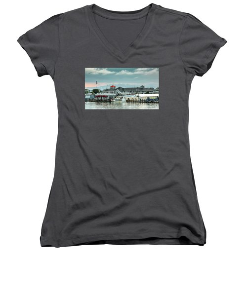 Harris Crab House Women's V-Neck (Athletic Fit)