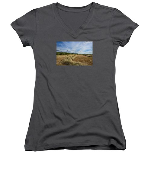 Harvest Women's V-Neck T-Shirt (Junior Cut) by Susi Stroud