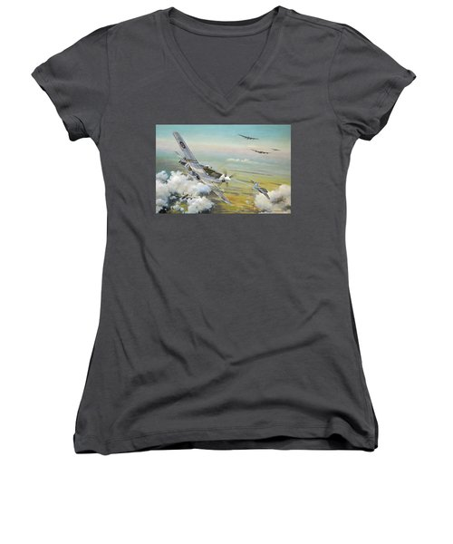 Haslope's Komet Women's V-Neck T-Shirt