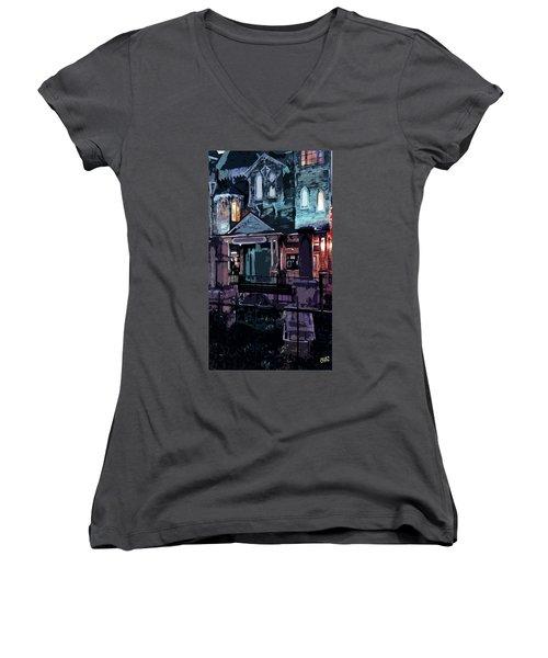 Haunted Women's V-Neck T-Shirt
