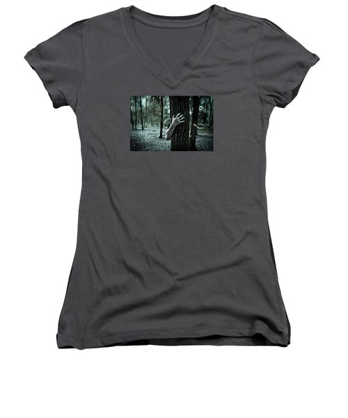 Haunted Forest  Women's V-Neck (Athletic Fit)