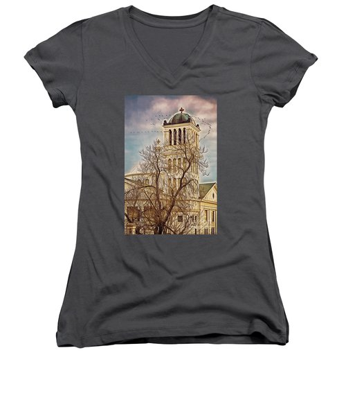 The Church On Oak Street Women's V-Neck (Athletic Fit)