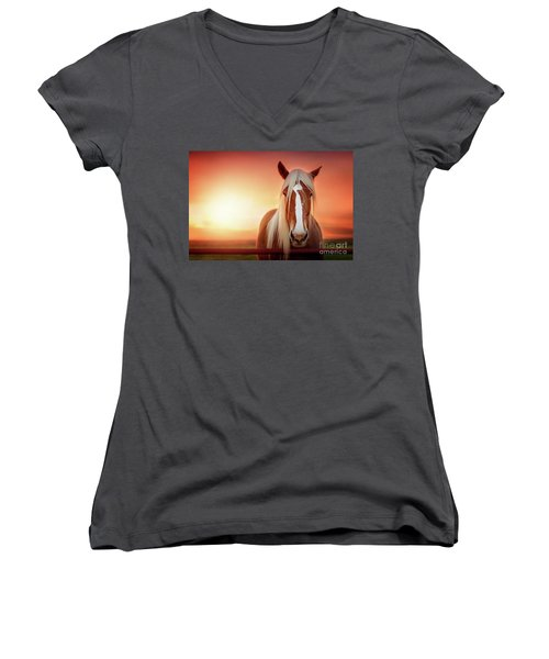 Have I Told You Lately That I Love You Women's V-Neck T-Shirt (Junior Cut) by Tamyra Ayles