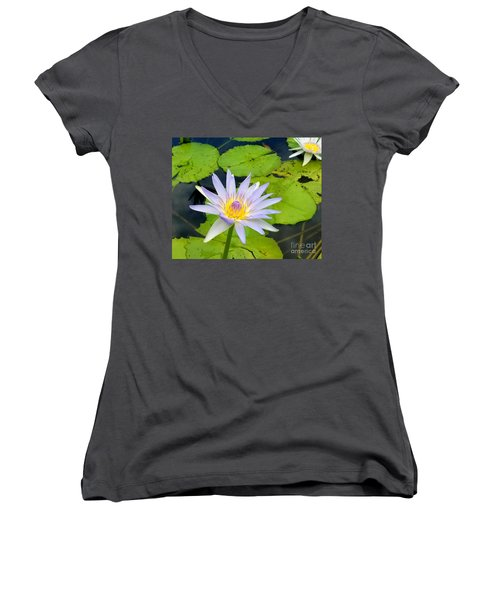 Hawaiian Lotus Women's V-Neck T-Shirt
