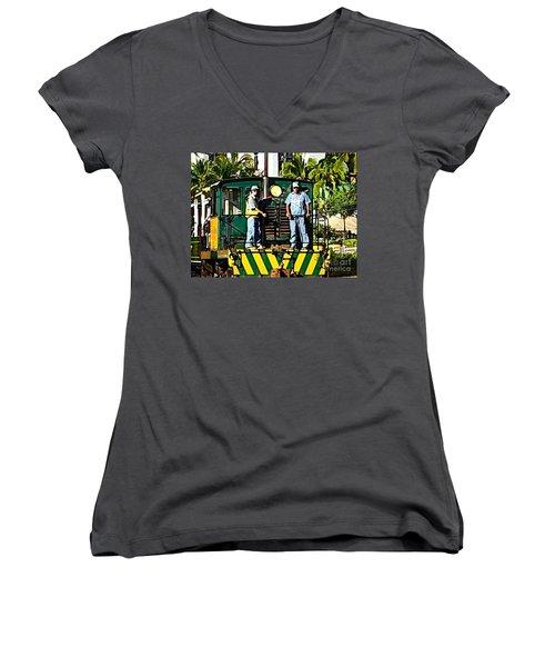 Hawaiian Railway Women's V-Neck T-Shirt