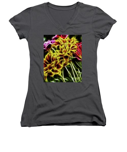 Hdr Light Drawing Women's V-Neck T-Shirt