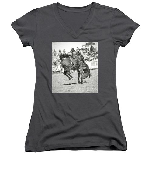 Head Down Women's V-Neck (Athletic Fit)