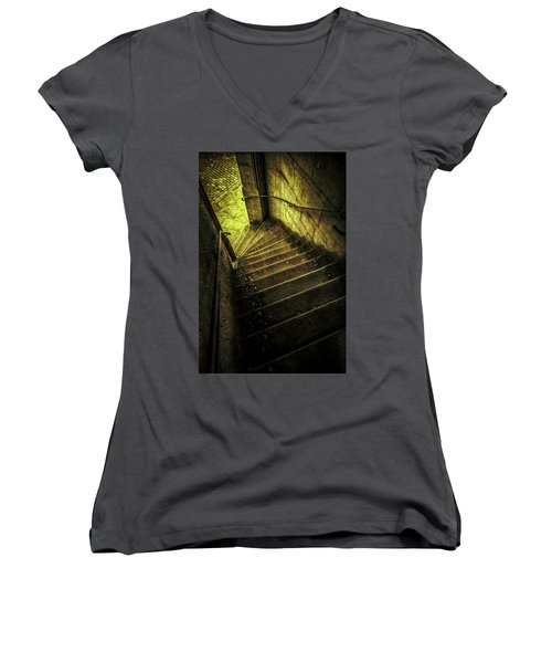Women's V-Neck T-Shirt (Junior Cut) featuring the photograph Head Full Of Drought by Russell Styles