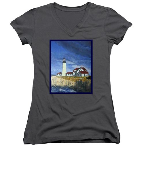 Head Lighthouse  Women's V-Neck T-Shirt