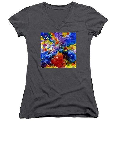 Head Over Feet Women's V-Neck T-Shirt (Junior Cut) by Tracy Bonin