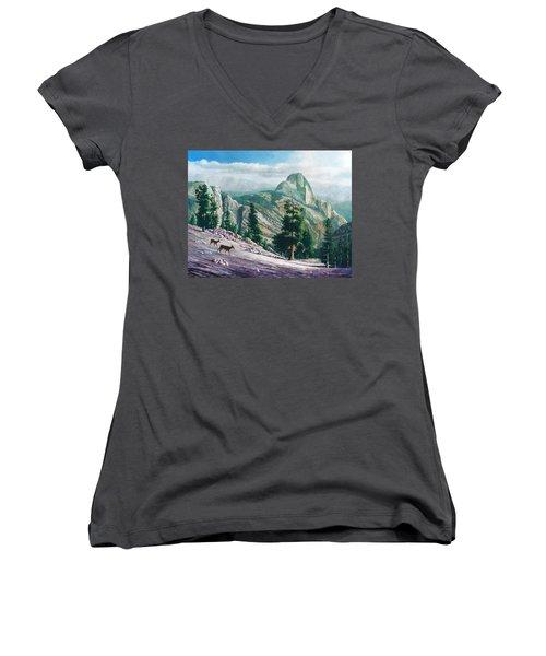 Heading Down Women's V-Neck T-Shirt