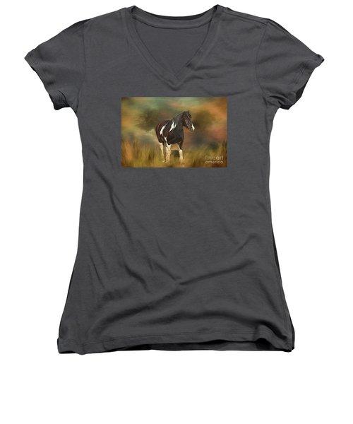 Heading For Home Women's V-Neck T-Shirt