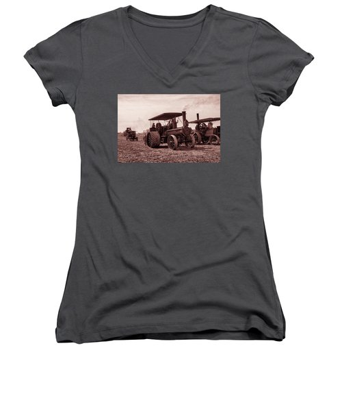 Heading Out Antiqued Women's V-Neck (Athletic Fit)