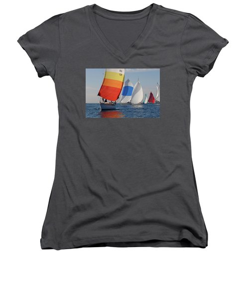 Heading Towind Windward Mark Women's V-Neck