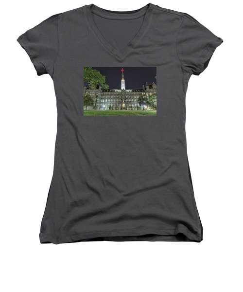 Healy Hall Women's V-Neck T-Shirt