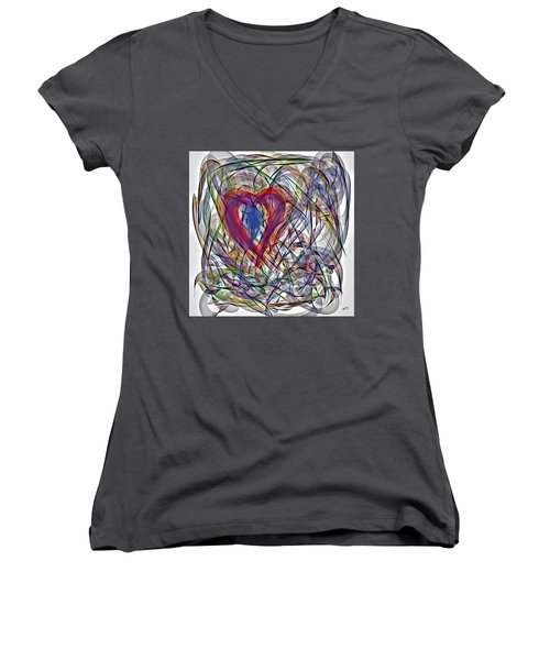 Heart In Motion Abstract Women's V-Neck