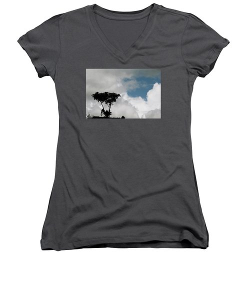 Heart In The Clouds Women's V-Neck (Athletic Fit)