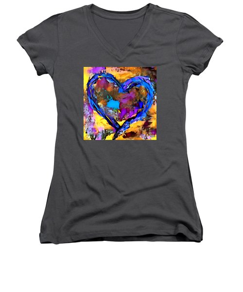 Heart No 7 Women's V-Neck (Athletic Fit)