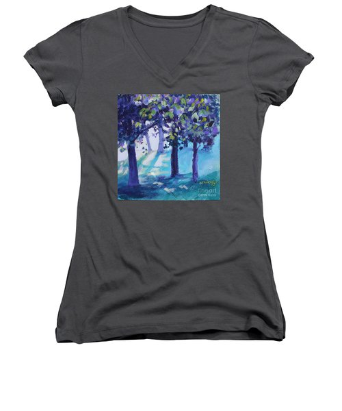 Heart Of The Forest Women's V-Neck (Athletic Fit)