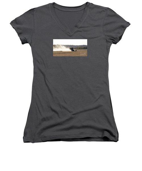 Women's V-Neck T-Shirt (Junior Cut) featuring the photograph Heartland Harvest  by J L Zarek