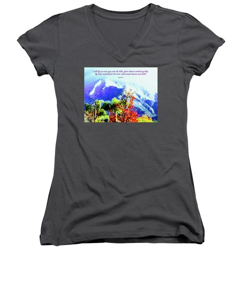 Heaven And Earth Women's V-Neck T-Shirt (Junior Cut) by Russell Keating