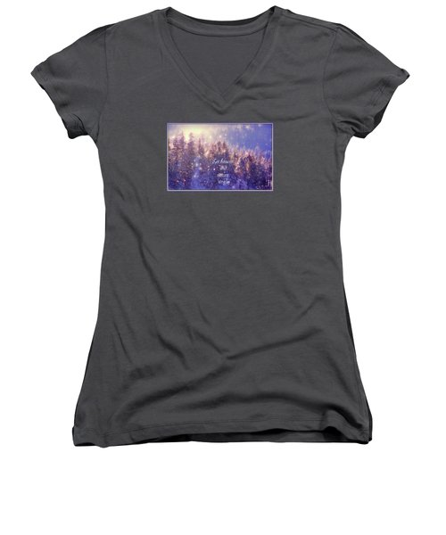 Women's V-Neck T-Shirt (Junior Cut) featuring the photograph Heaven And Nature by Kathy Bassett