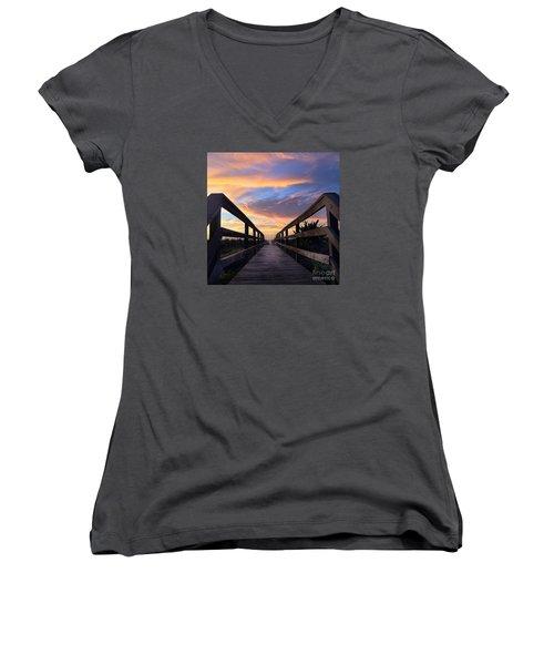 Heavenly  Women's V-Neck T-Shirt (Junior Cut) by LeeAnn Kendall