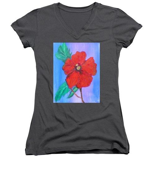 Heavenly Scent Women's V-Neck T-Shirt (Junior Cut) by Maria Watt