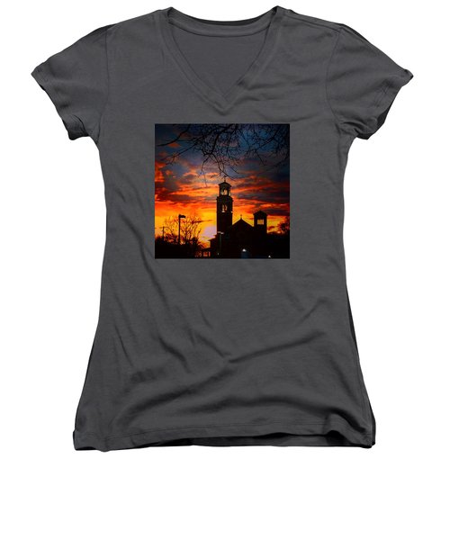 Heavenly Sunset Women's V-Neck