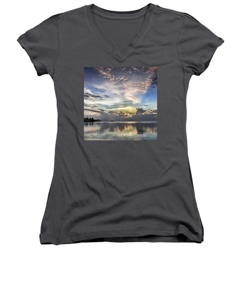 Heaven's Light - Coyaba, Ironshore Women's V-Neck T-Shirt (Junior Cut) by John Edwards