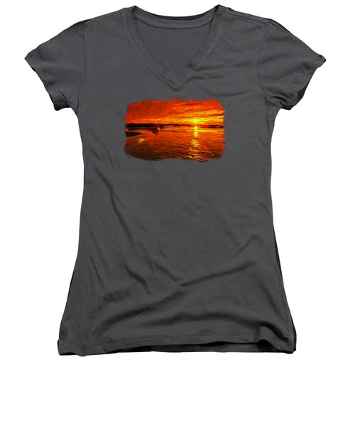Heavens Of Fire 2 Women's V-Neck