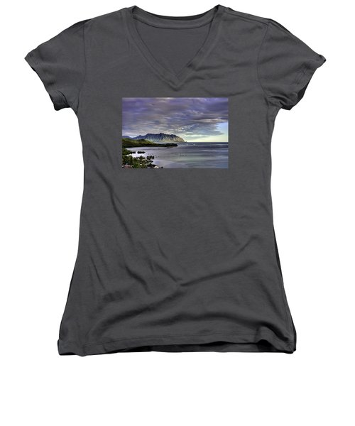 He'eia And Kualoa 2nd Crop Women's V-Neck (Athletic Fit)